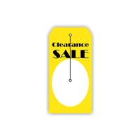 """Clearance Sale"", 2.375 x 4.75 in., Slit Hang Tag, 500 per shrink pack"