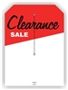 """Clearance Sale"", 5 x 7in., Slit Hang Tag, 250 per shrink pack"