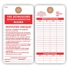 "Fire Extinguisher - Recharge and Reinspection Record, 5.75"" x 3"", White Paper, Plain, Pack of 100"