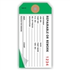 "REPAIRABLE/REWORK, 4.75"" x 2.375"", White on Dark Green Paper,2-Ply, Plain, Box of 500"