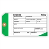 "REWORK, Numbered, 6.25"" x 3.125"", White/White/Dk Green Paper,3-Ply, Plain, Pack of 100"