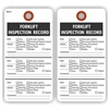 "FORKLIFT INSPECTION RECORD, 5.75"" x 3"", White Paper,2 Sided, Plain, Pack of 100"
