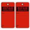 "REPAIR REQUIRED, Problem, 5.75"" x 3"", Red Paper,2 Sided, Plain, Pack of 100"