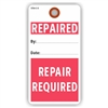 "REPAIRED/ REPAIR REQUIRED, 5.75"" x 3"", White Paper,1 Stub, Plain, Pack of 100"