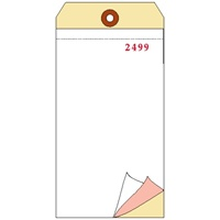 Inventory Tag, Blank 3 Ply Carbonless, Box of 500, Choose Your Sequence Numbers
