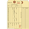 Inventory Tag, 1-Ply w/Tear off numbered Stub, 2 Sided, Box of 1000, Choose Your Sequence Numbers