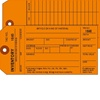 <!050>Inventory, 1-Ply w/Tear off numbered Stub, Orange, 2 Sided, Box of 500, Plain, Sequence per factory