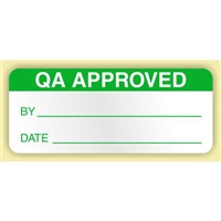 """QA Approved"", .625 x 1.5 in. Rectangle, Flexible Vinyl, 350 per Box"