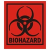 "Biohazard, 3-1/2"" x 4"", Paper, Roll of 500"
