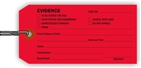 """Evidence"", 2.375 x 5.25 in., 13Pt Red paper, Wired, 100 per shrink pack"