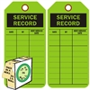 "<!0120>Service Record,  6-1/4"" x 3"", Fluorescent Green, In-a-Box of 100"