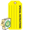 "<!0120>Special Instructions,  6-1/4"" x 3"", Fluorescent Yellow, In-a-Box of 100"