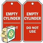 "<!010>Empty Cylinder Do Not Use, 6-1/4"" x 3"", White Polypropylene, In-a-Box of 100"