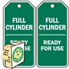 "<!010>Full Cylinder Ready for Use, 6-1/4"" x 3"", White Polypropylene, In-a-Box of 100"