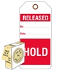 "<!010>Released/Hold 6-1/4"" x 3"", White Polypropylene, In-a-Box of 100"