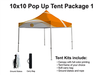 10x10 VENDOR TENT - FULL COLOR CUSTOM PRINTED