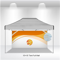 10x15 VENDOR TENT BACKWALL- FULL COLOR CUSTOM PRINTED