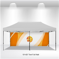 10x20 VENDOR TENT BACKWALL- FULL COLOR CUSTOM PRINTED
