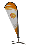 X-Small (5.5') Teardrop Flag - Full Fiberglass  Pole