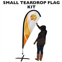 Small (7.5') Teardrop Flag - Full Fiberglass Pole