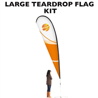 Large (15') Teardrop Flag - Full Fiberglass Pole