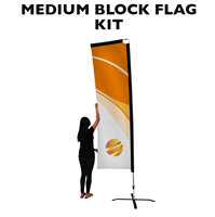 Medium (10') Rectangle Flag - Full Fiberglass Pole