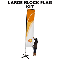 Large (15') Rectangle Flag - Full Fiberglass Pole