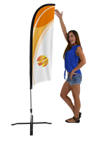 X-Small (6.5') Feather Flag - Full Fiberglass Pole