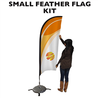 Small (9') Feather Flag - Full Fiberglass