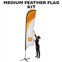 Medium (12') Feather Flag - Full Fiberglass Pole