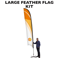 Large (16') Feather Flag - Full Fiberglass Pole
