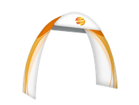 "Tension Fabric Round Arch (40""d x 7'10""w x 8'11""h)"