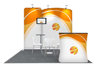 Tension Fabric Display Booth E - 10ft wide
