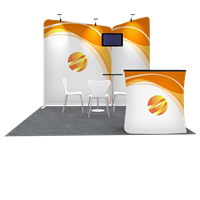 Tension Fabric Display Booth F - 10ft wide