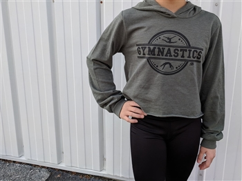 Green Soffe Imprinted Gymnast Cropped Hoodie