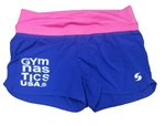 Pink and blue gymnastic imprinted soffee shorts