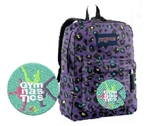 Gymnastics 3 gymnast Cheetah print JanSport embroidered backpack