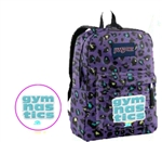Gymnastics GNT blue Cheetah print Jansport inprinted book bag