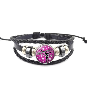 Gymnastics Rocks Button Bracelet