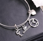 I Love Gymnastics Stainless Steel Bangle