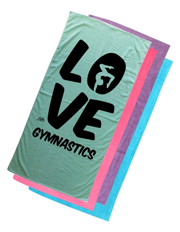 Gymnastics Beach Towel LOVE
