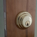 bright brass deadbolt lock