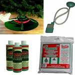 Christmas tree waterer and accessory kit