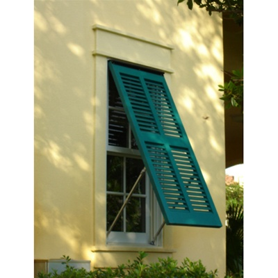 Exterior Window Shutters On Brick
