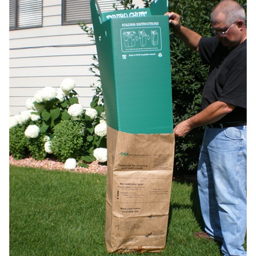 Leaf N Lawn Chute Bagger For Square Paper Bags
