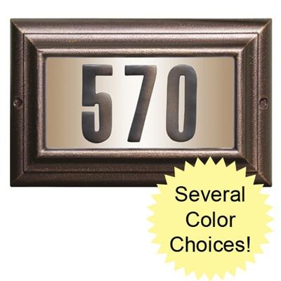 Edgewood Large Lighted Address Plaque Ltl 1301 Free