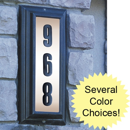 edgewood vertical lighted address plaque ltv 1303 free. Black Bedroom Furniture Sets. Home Design Ideas