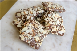 Chocolate Dipped Butter Toffee with Almonds