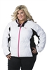 DSG Plus Size Fleece Jacket - White/ Black