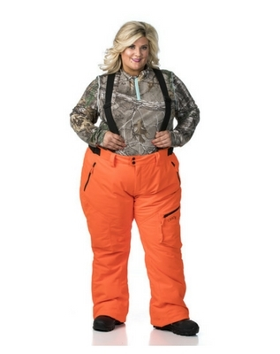DSG Kylie Plus Size Bib/ Pant -Blaze Orange